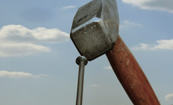 hammer, nail, sky